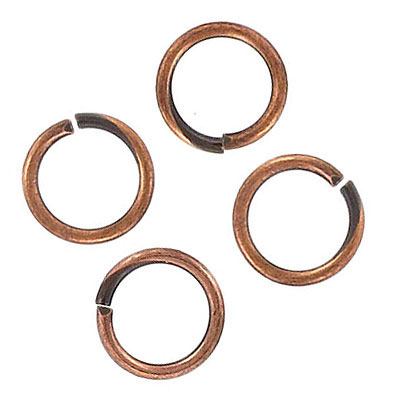 Jumprings, 11mm, antique copper