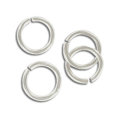 Jumpring 11mm outside diameter (1.4 mm, 15 gauge thickness) silver plate nkf