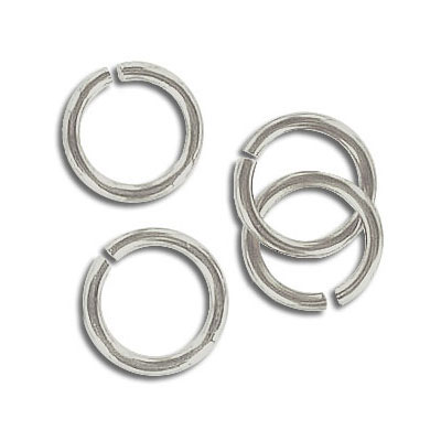 Jumpring 11mm outside diameter (1.4 mm, 15 gauge thickness) nickel plate nkf