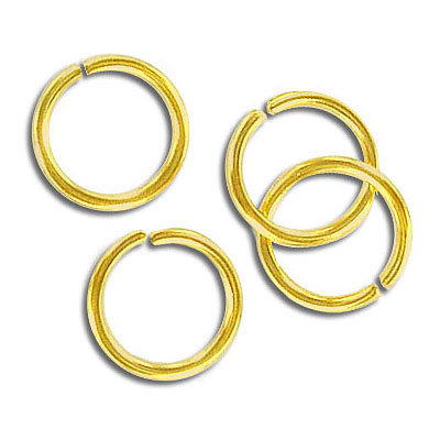 Jumpring 12mm outside diameter (1.4 mm, 15 gauge thickness) gold plate nkf