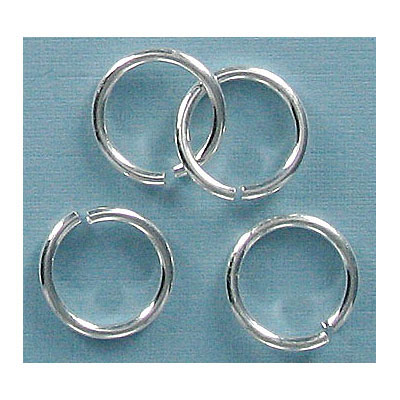 Jumpring 12mm outside diameter (1.4 mm, 15 gauge thickness) silver plate nkf