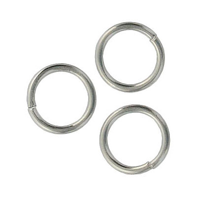 Jumpring 12mm outside diameter (1.4 mm, 15 gauge thickness) stainless steel nkf