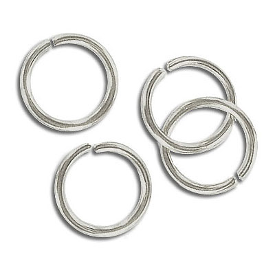 Jumpring 12mm outside diameter (1.4 mm, 15 gauge thickness) nickel plate nkf