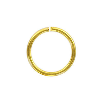 Jumpring 16mm outside diameter gold plate nkf