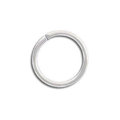 Jumpring 16mm outside diameter silver plate