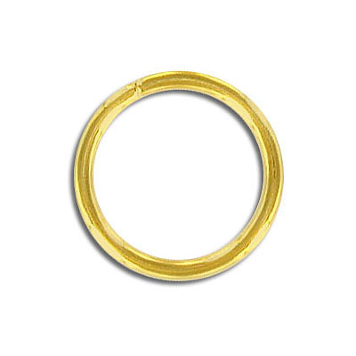 Jumpring 20mm outside diameter gold plate nkf