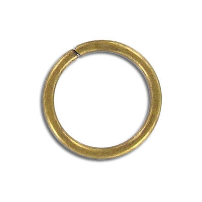Jumpring 20mm outside diameter antique brass plate nkf