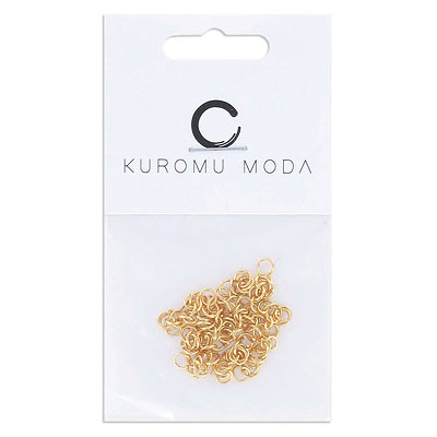 Jumprings, 4mm, 0.6mm wire thickness, stainless steel, gold vacuum plated