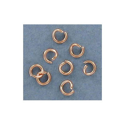 Jumprings, 4mm outside diameter, 0.7mm wire thickness, stainless steel, rose gold plate