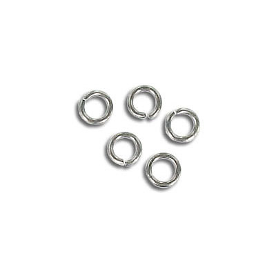 Jumprings, 4mm, 0.7mm thick, stainless steel, grade 316L