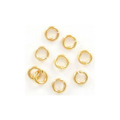 Jumprings, 4mm, 0.8mm wire thickness, Hamilton gold. Made in US