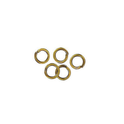 Jumpring 4mm outside diameter (0.7mm, 21 gauge thickness) antique brass plate nkf