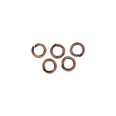 Jumpring 4mm outside diameter (0.7mm, 21 gauge thickness) antique copper plate nkf