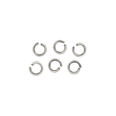Jumpring 4mm outside diameter (0.7mm, 21 gauge thickness) silver plate nks