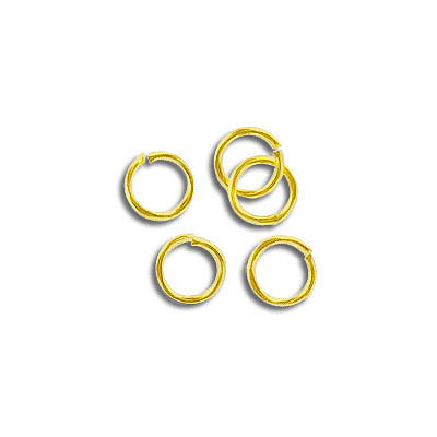 Jumpring 5.5mm outside diameter (0.7mm, 21 gauge thickness) gold plate