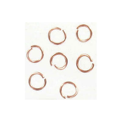 Jumprings, 5mm, 0.7mm thick, stainless steel, rose gold plate