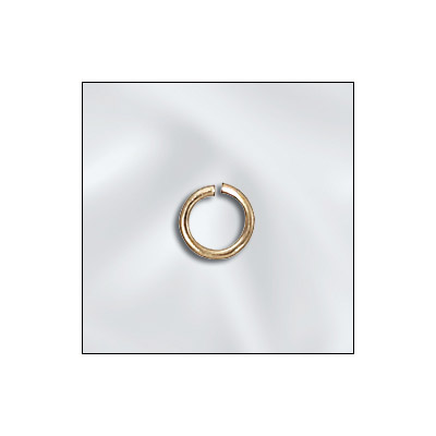 Jumprings, 5mm, 0.8mm thick, gold filled, gold plate
