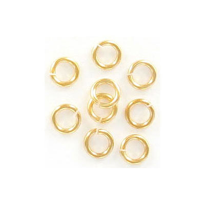 Jumprings, 5mm, 0.9mm wire thickness, Hamilton gold. Made in US