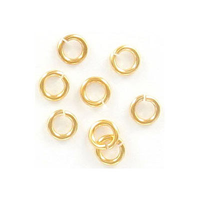 Jumprings, 5mm, 1mm wire thickness, Hamilton gold. Made in US