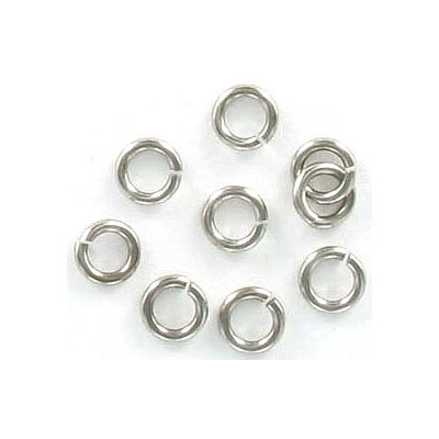 Jumprings, 5mm, 1mm wire thickness, rhodium imitation. Made in US