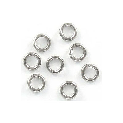 Jumprings, 5mm, 1mm wire thickness (18ga), stainless steel