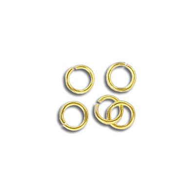 Jumpring 5mm outside diameter (0.8mm, 20 gauge thickness) gold plate nkf