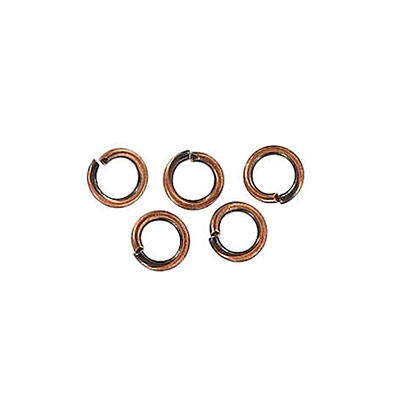 Jumpring 5mm outside diameter (0.8mm, 20 gauge thickness) antique copper plate nkf