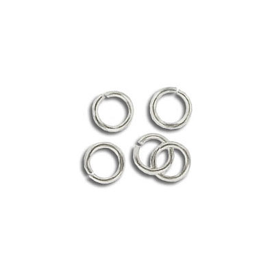 Jumpring 5mm outside diameter (0.8mm, 20 gauge thickness) nickel plate nkf