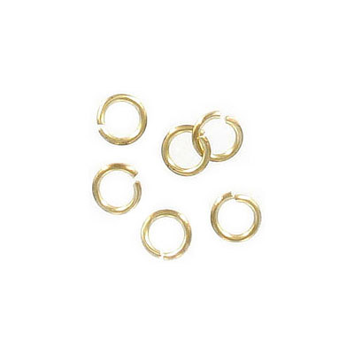 Jumprings, 6mm, 1mm wire thickness (18ga), brass core, raw