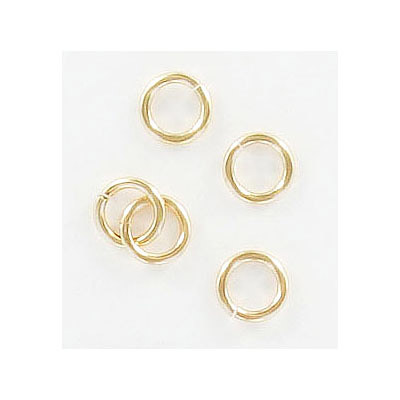 Jumprings, 6mm, 1mm thick, gold filled 14k