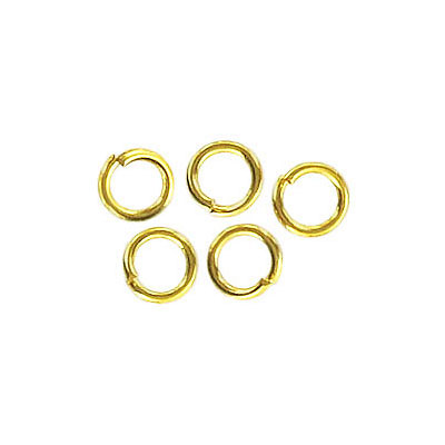 Jumpring 6mm outside diameter (1 mm, 18 gauge thickness) gold plate nkf