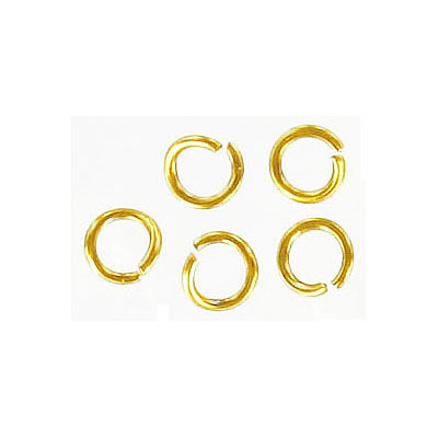 Jumprings, 6mm, 1mm thick, stainless-steel, gold plate