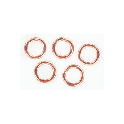 Jumprings, 6mm, 1mm thick, rose gold