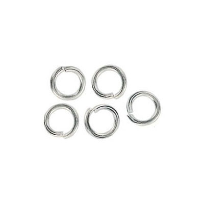 Jumpring 6mm outside diameter (1 mm, 18 gauge thickness) silver plate nks