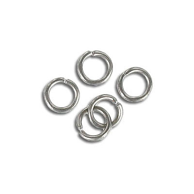 Jumpring 6mm outside diameter (1 mm, 18 gauge thickness) stainless steel nks