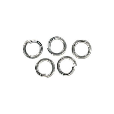 Jumpring 6mm outside diameter (1 mm, 18 gauge thickness) nickel plate nkf
