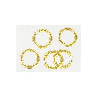 Jumpring 7mm outside diameter (1.2 mm, 17 gauge thickness) gold plate nkf