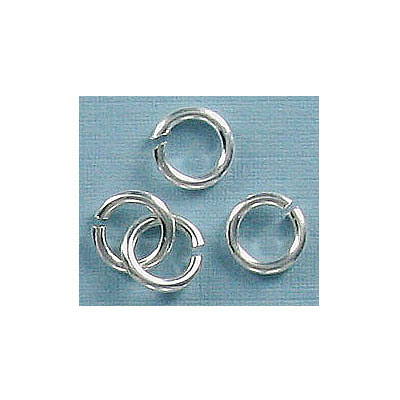 Jumpring 7mm outside diameter (1.2 mm, 17 gauge thickness) silver plate nkf
