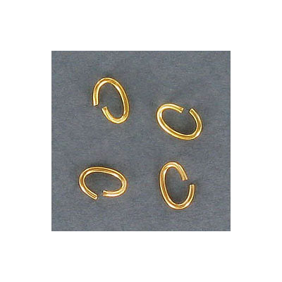 Jumprings, 7x5mm, 0.85mm thickness( 20ga), oval, gold plate color, nickel free