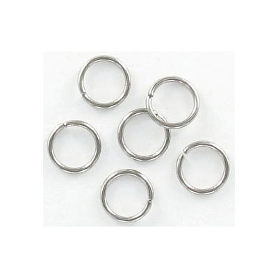 Jumprings, 8mm, 1mm wire thickness (18ga), stainless steel