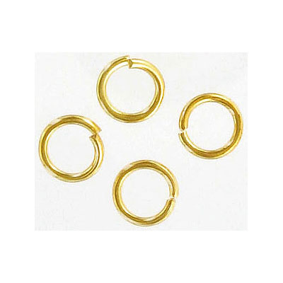 Jumpring 8mm outside diameter (1.2 mm, 17 gauge thickness)gold plate nkf