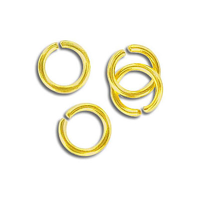 Jumpring 9mm outside diameter, (1.4mm, 15 gauge thickness) gold plate