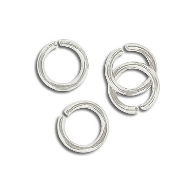Jumpring 9mm outside diameter, (1.4mm, 15 gauge thickness) silver plate
