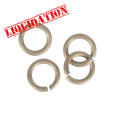 Jumpring aluminium, 10mm outside diameter, (1.6mm, 14 gauge thickness) champagne