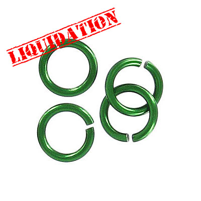 Jumpring aluminium, 10mm outside diameter, (1.6mm, 14 gauge thickness) emerald green