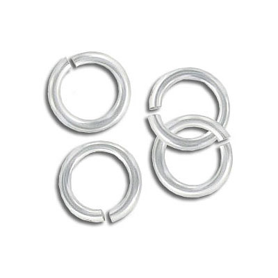 Jumpring aluminium, 10mm outside diameter, (1.6mm, 14 gauge thickness) silver plate