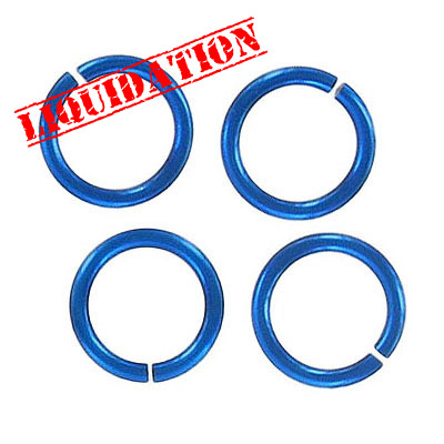 Jumpring aluminium, 12mm outside diameter, (1.6mm, 14 gauge thickness) royal blue plate