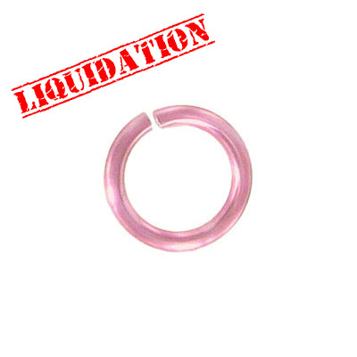 Jumprings alluminium, 14mm, 2mm thick, pink