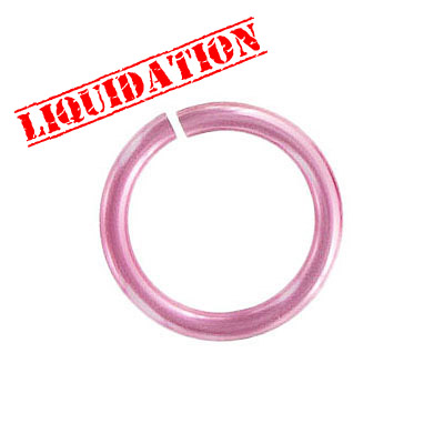 Jumpring aluminium, 18mm outside diameter, 2.4mm thickness pink