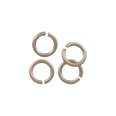 Jumpring aluminium, 7mm outside diameter, 1mm thickness champagne
